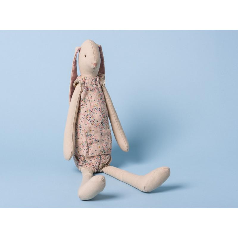 Maileg Hase Medium Bunny Light Girl mit Schlappohren im Sommeroutfit 46 cm groß