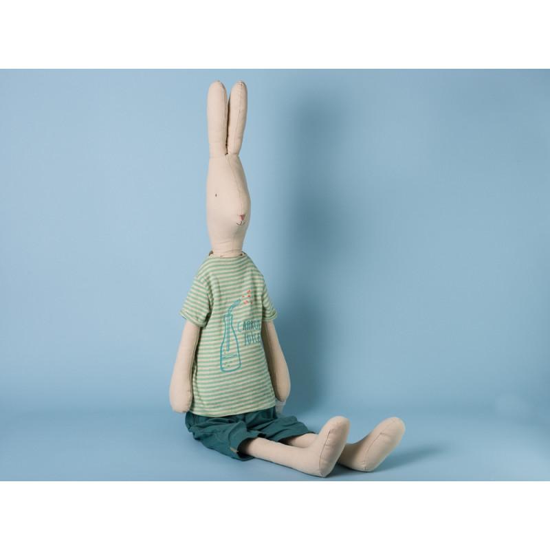 Maileg Hase Mega Maxi Light Rabbit Steward Cool Karottensaft Shirt und Jeans Hose