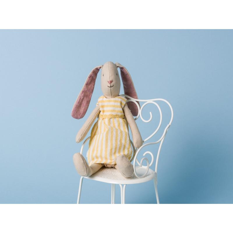 Maileg Hase Mini Light Bunny Aya Kleid gelb Schlappohren sitzen