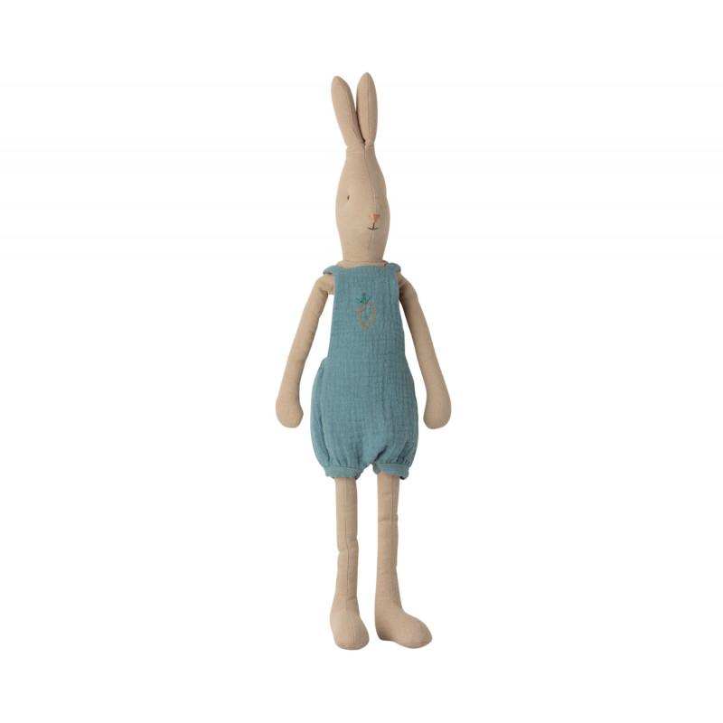 Maileg Hase Rabbit im Overall mit Stickerei Size 3 Höhe 49 cm Maileg nr 16-0320-00