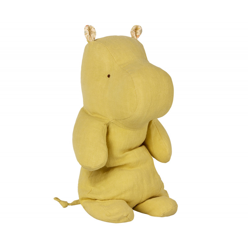 Maileg Hippo gelb medium Safari Friends Nilpferd 30 cm lime yellow