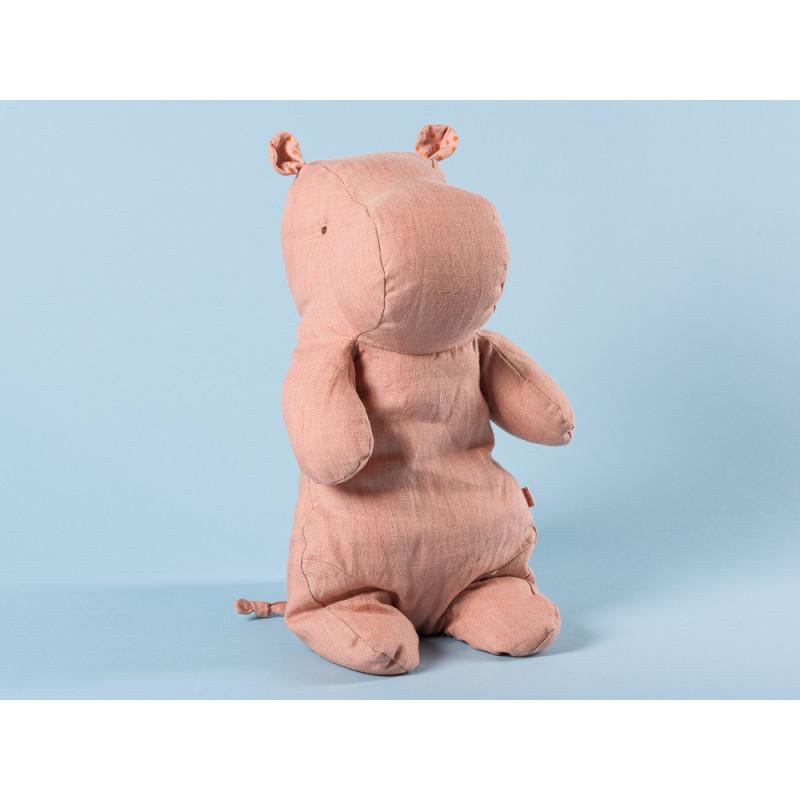 Maileg Hippo rosa medium Safari Friends Nilpferd 30 cm hoch Kuscheltier Geschenkidee zum Sammeln