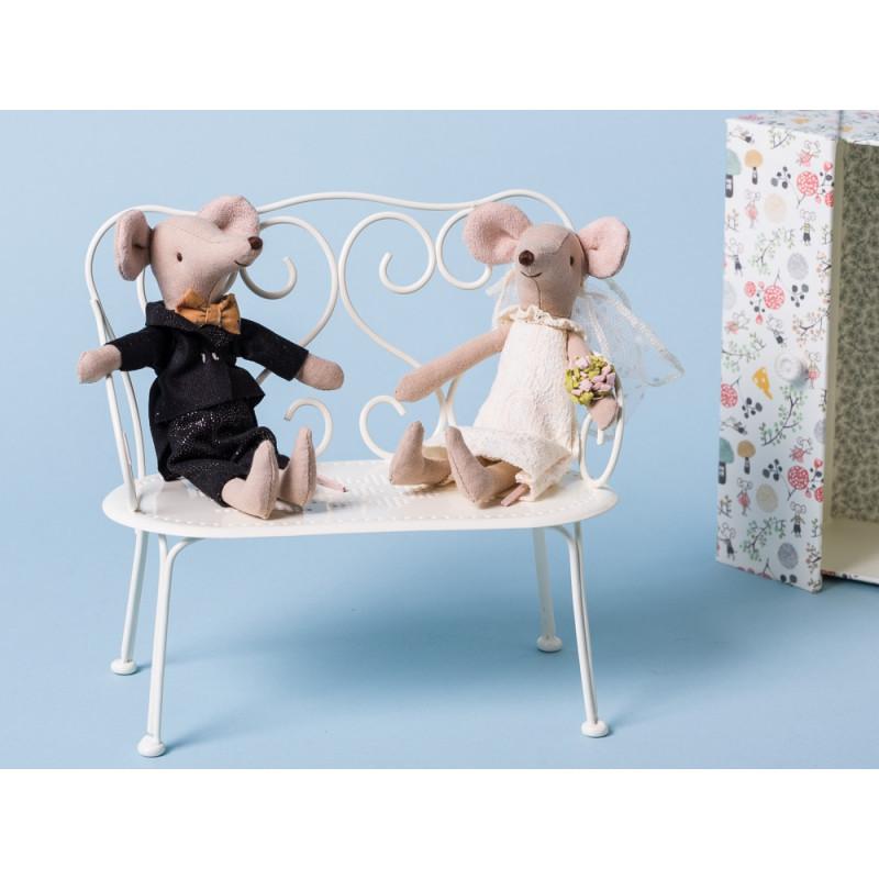 Maileg Hochzeitsgeschenk Mäusehochzeit zweimal Maileg Maus in Geschenkbox zur Hochzeit