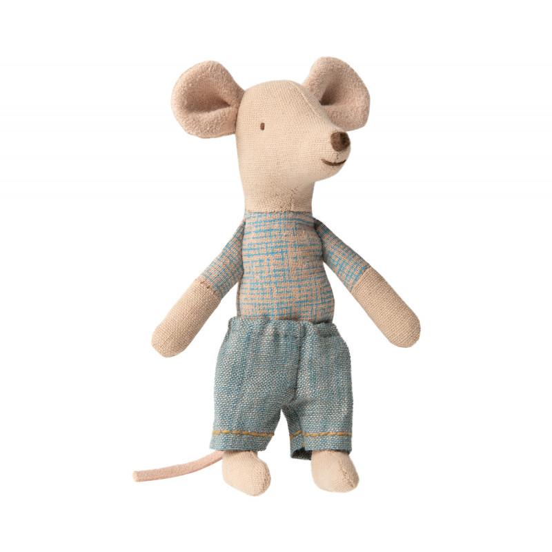 Maileg Kleiner Bruder Maus in Streichholzschachtel mit Wild West Decke