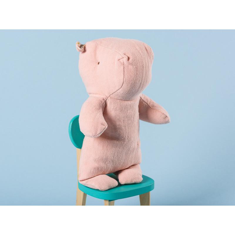 Maileg Little Hippo rosa klein Safari Friends Nilpferd 22 cm hoch Kuscheltier Geschenkidee zum Sammeln