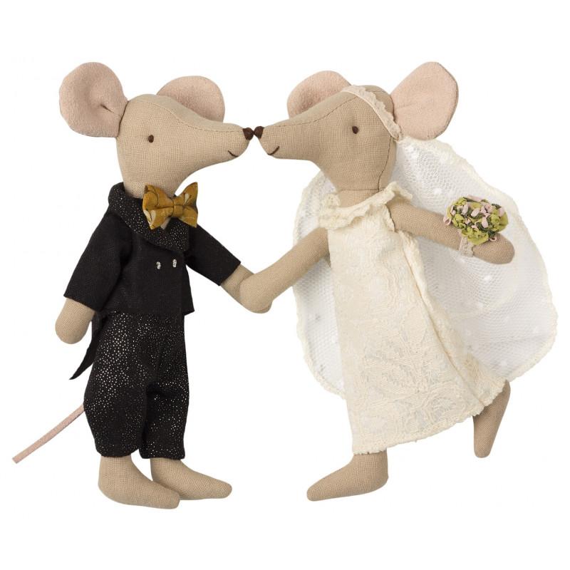 Maileg Mäuse Hochzeit Geschenkbox Hochzeitspaar Maileg Maus
