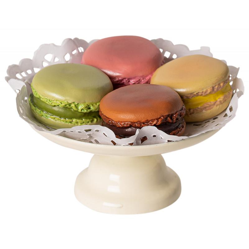 Maileg Macarons bunt auf Servierplatte creme weiß Maileg Zubehör