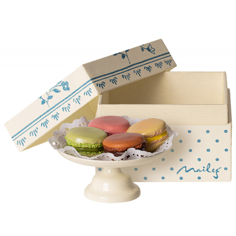 Maileg Macarons mit Tortenplatte in Geschenk Verpackung