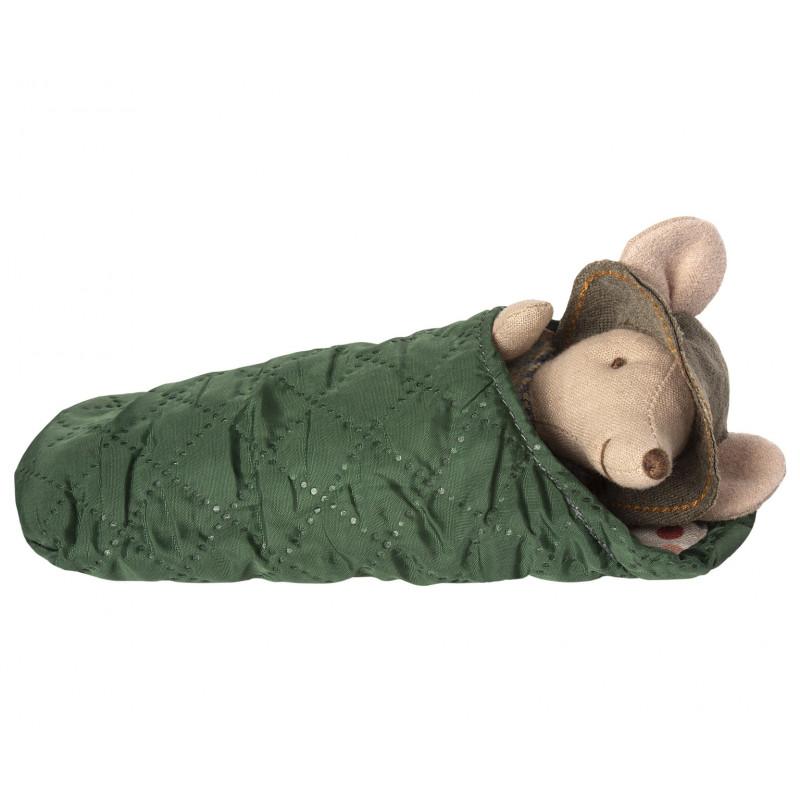 Maileg Maus Wanderer Kleiner Bruder mit Schlafsack 12 cm