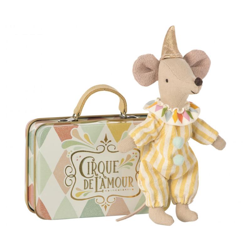 Maileg Maus Zirkus Clown im Koffer