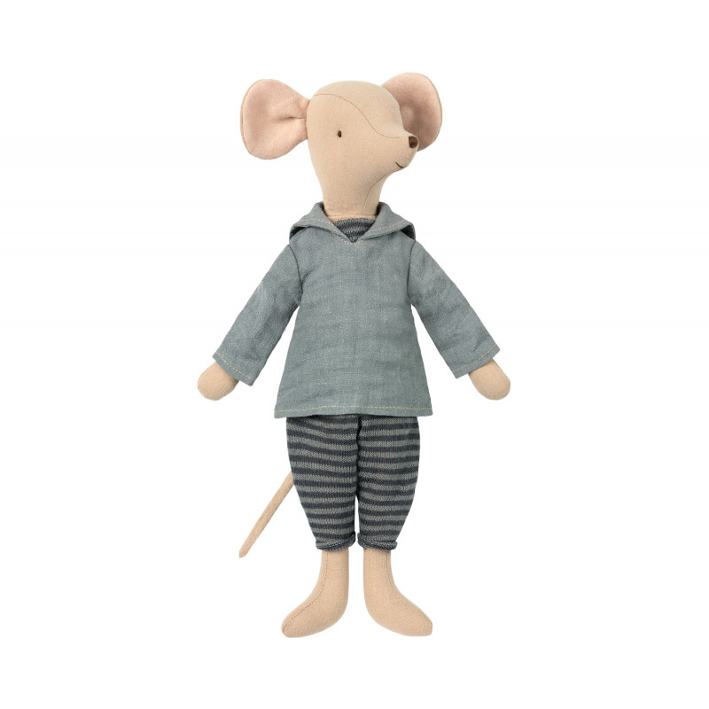 Maileg Medium Mouse Boy Matrosen Maus Junge bereit zum Segel setzen 31 cm