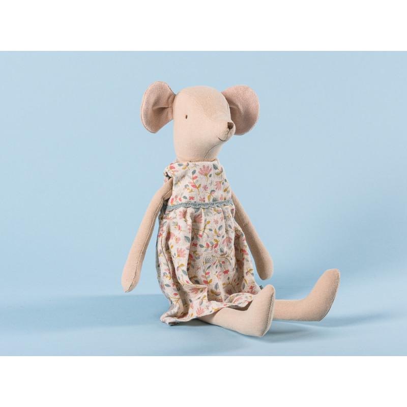 Maileg-Medium-Mouse-Girl-Mädchen-Maus-im-schönen-Fruehling-Blumenkleid-31-cm