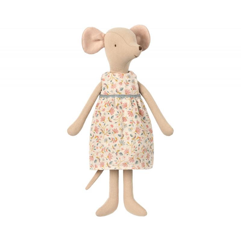Maileg Medium Mouse Girl Mädchen Maus im schönen Blumenkleid 31 cm