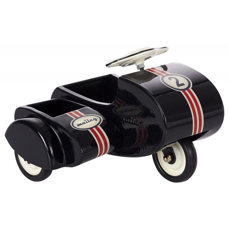 Maileg Motorrad mit Beiwagen schwarz aus Metall