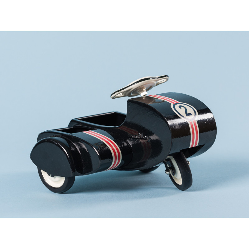 Maileg Motorrad mit Beiwagen schwarz lackiert aus Metall ca 9 cm