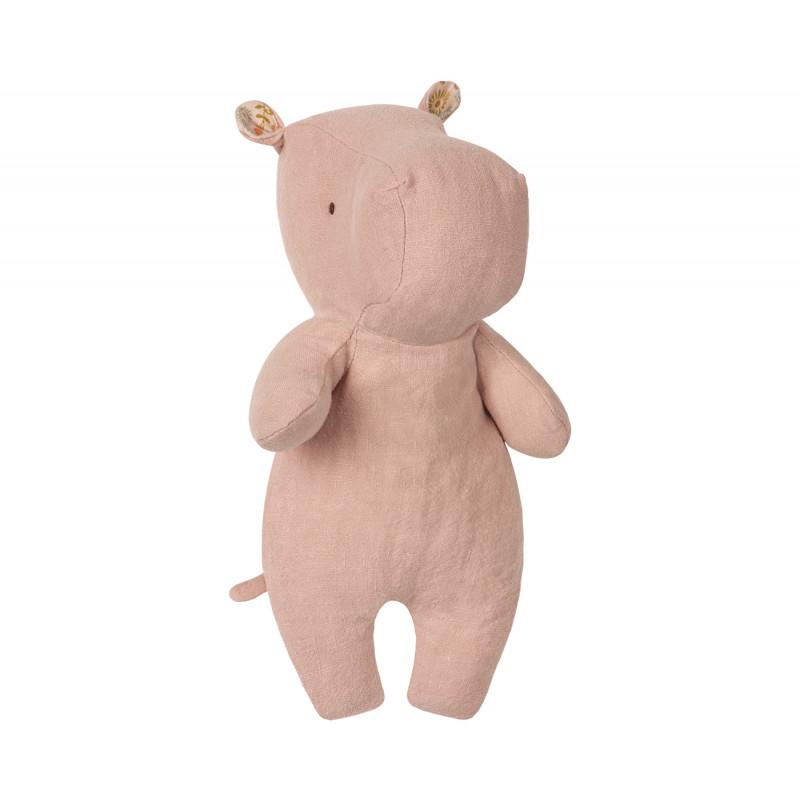 Maileg Nilpferd Little Hippo rosa 21 cm groß