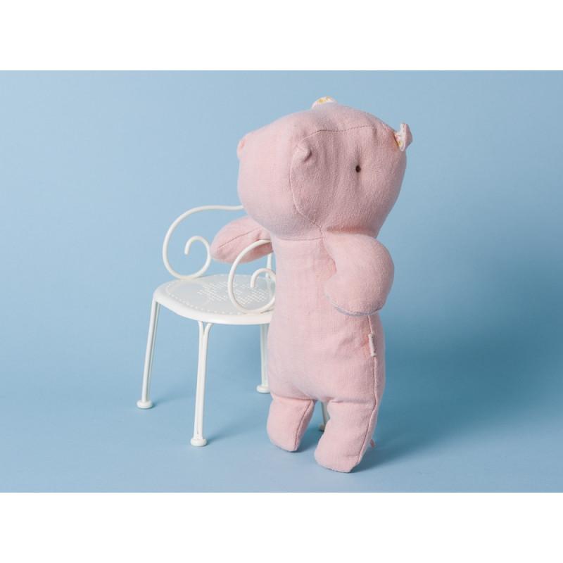 Maileg Nilpferd Little Hippo rosa Kuscheltier Safari Friends 21 cm Stofftier