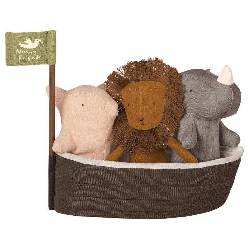 Maileg Noahs Arche 4er Set Noahs Freunde mit Boot