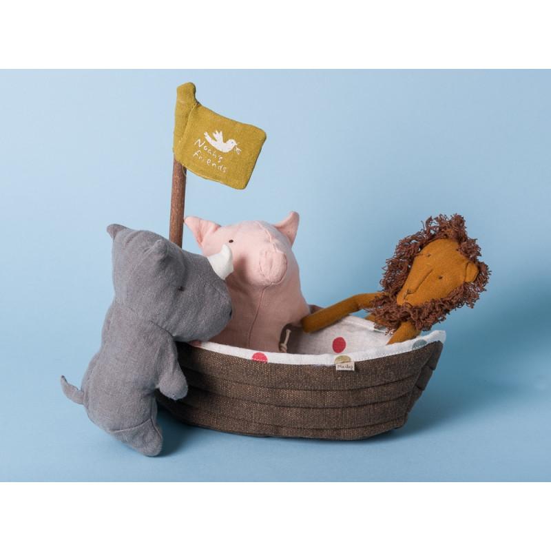 Maileg Noahs Arche Set 4er Set Kuscheltier Noah's Ark Freunde Stofftier