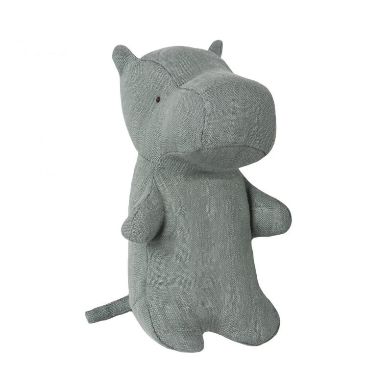 Maileg Noahs Friends Hippo Mini grau Nilpferd 12 cm groß