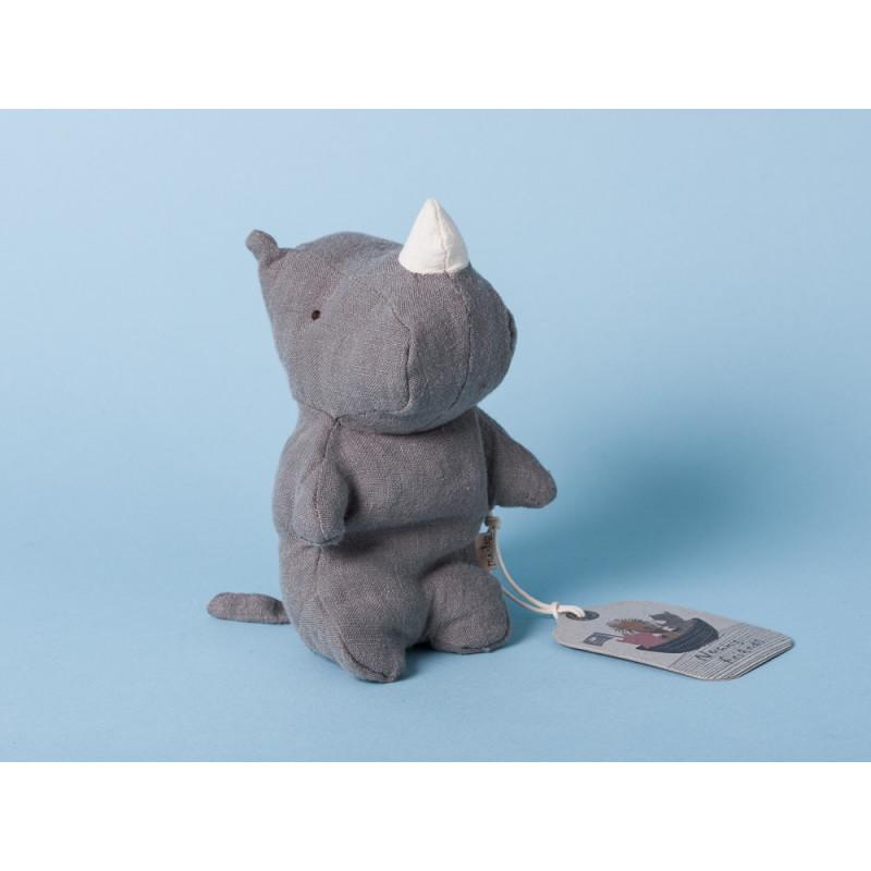 Maileg Noah's Friends Rhino grau Mini Kuscheltier Noahs Freunde 12 cm Stofftier