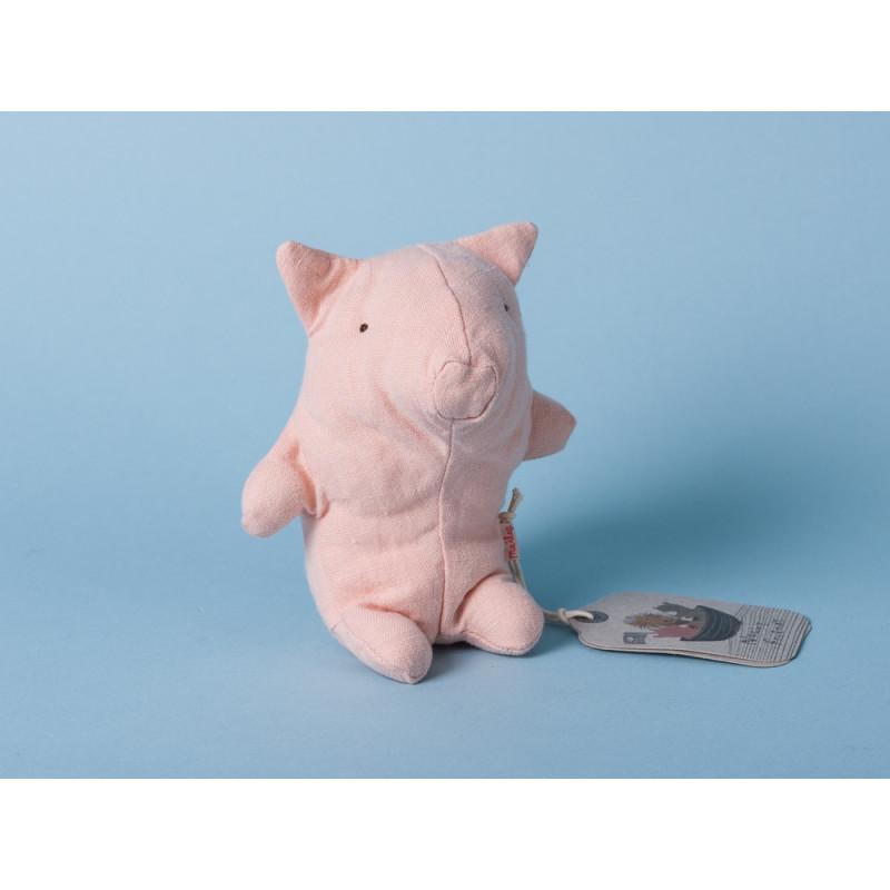 Maileg Noah's Friends Schwein rosa Mini Kuscheltier Noahs Freunde 12 cm Stofftier