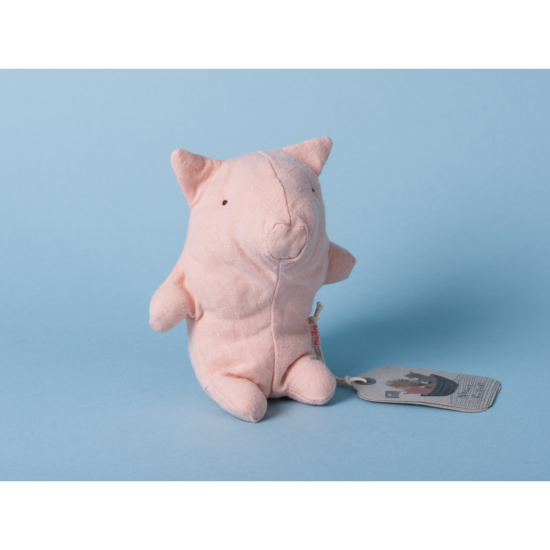Maileg Noah's Friends Schwein rosa Mini Kuscheltier Noahs Freunde