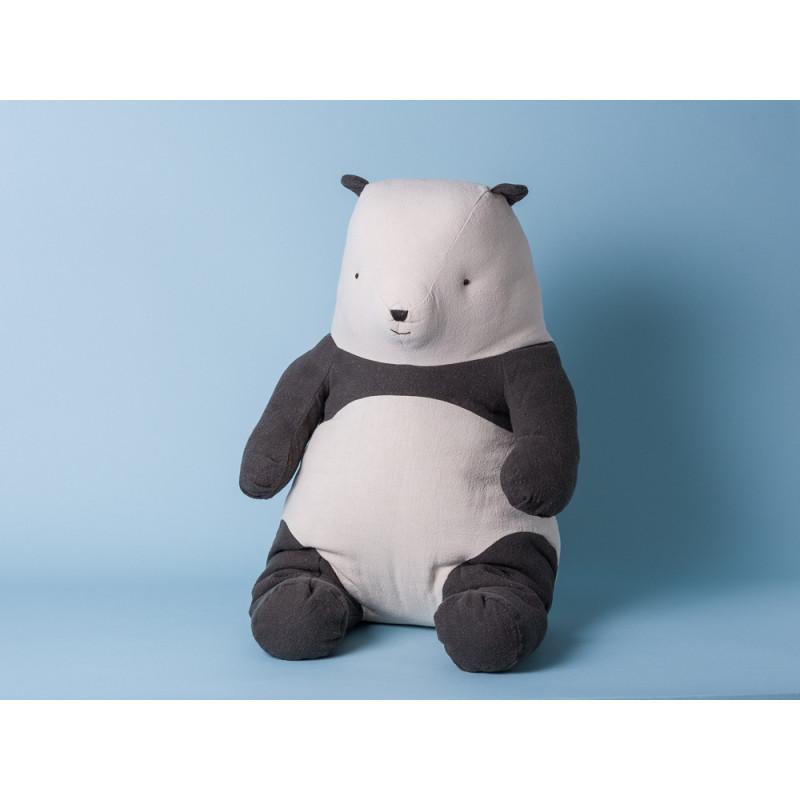 Maileg Panda Bär groß Kuscheltier 54 cm Stofftier schwarz weiß