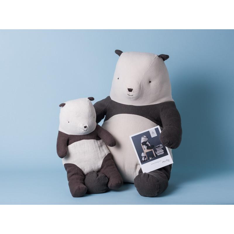 Maileg Panda Bär groß medium Kuscheltier 31 cm 54cm Stofftier sammeln schwarz weiß Foto