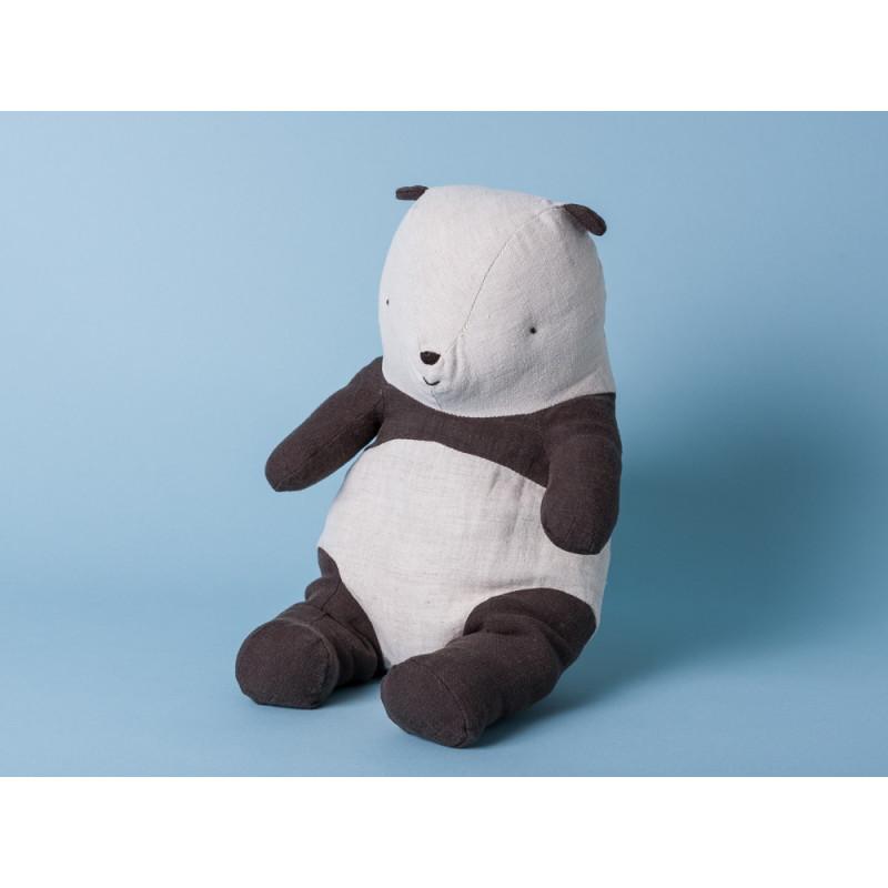 Maileg Panda Bär medium Kuscheltier 31 cm Stofftier schwarz weiß