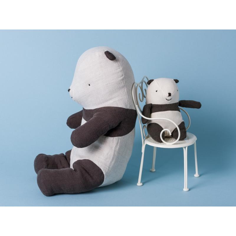 Maileg Panda Bär medium Noahs Friend Mini Kuscheltier Stofftier Stuhl
