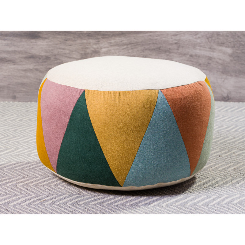Maileg Puff Large Drum Multi Natur Sitzpuff mehrfarbig für Kinder Trommel Pouf 24 x 43 cm groß
