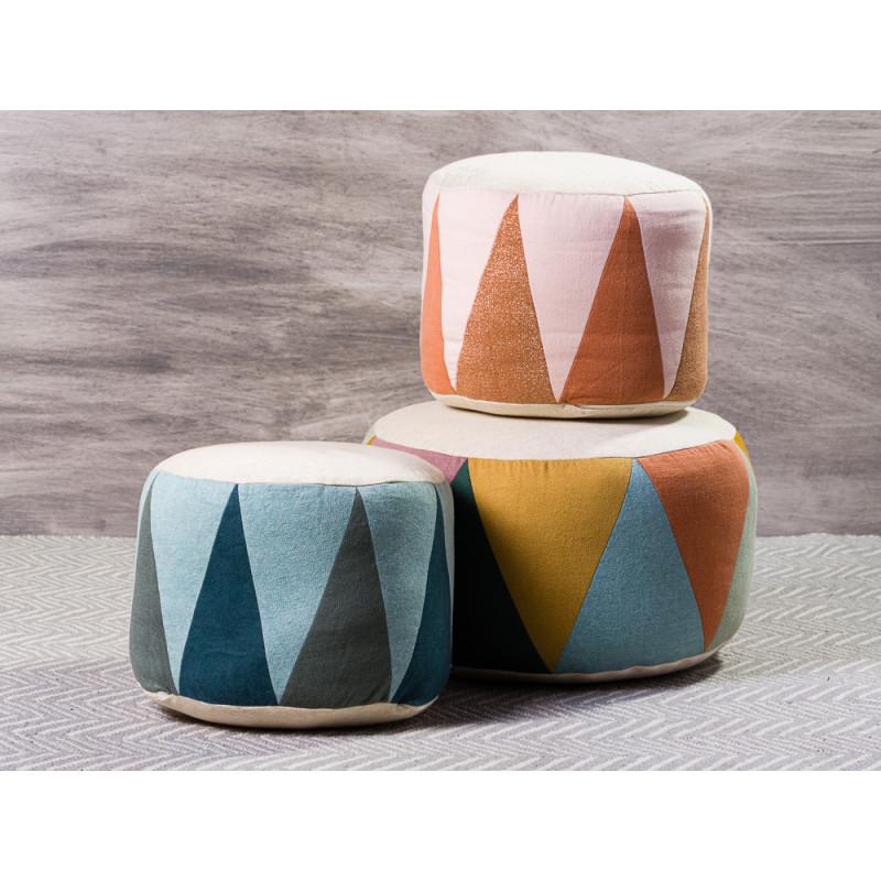Maileg Puff Medium und Large Drum Sitzpuff mehrfarbig für Kinder Trommel Gruppe