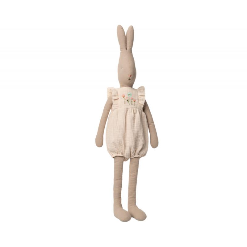 Maileg Rabbit im Jumpsuit Weiß mit Stickerei Size 5 Höhe 75 cm Maileg Hase Nr 16-0521-00