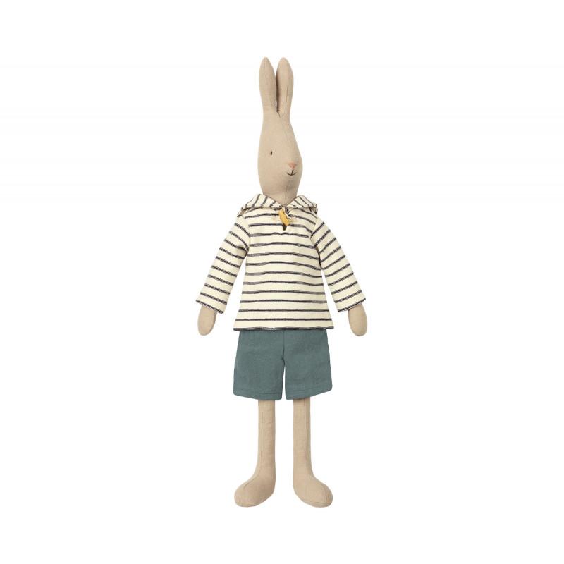 Maileg Rabbit Sailor Off White Size 3 Hase Seemann Weiß geringeltes Shirt 49 cm groß maritime Deko