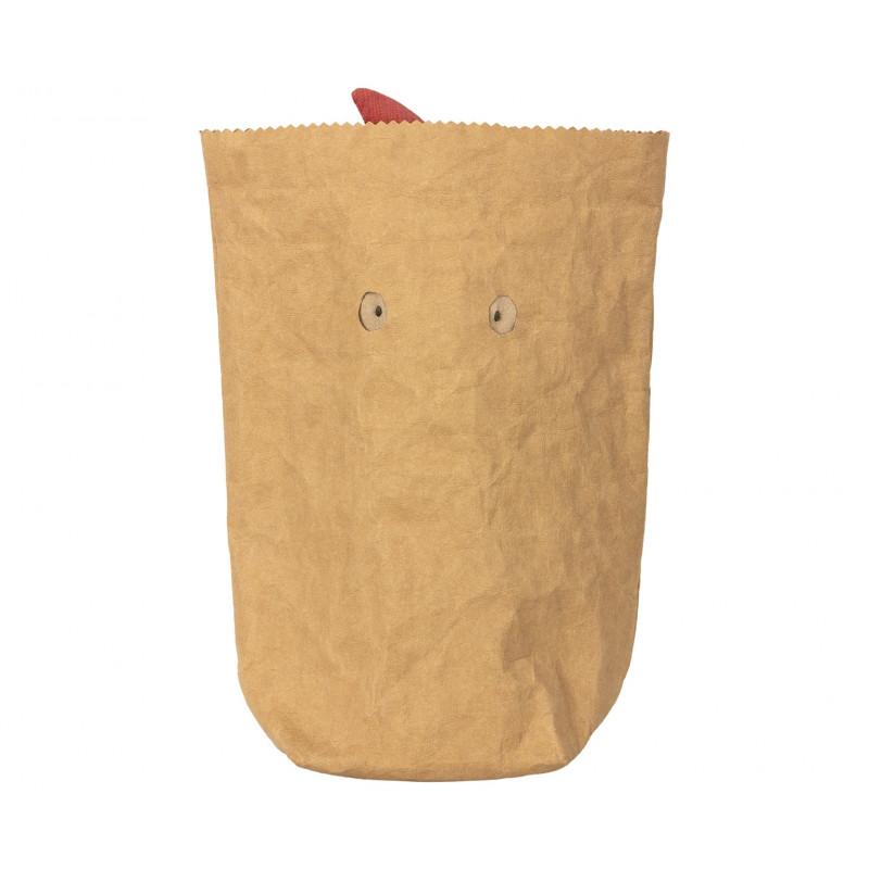 Maileg Troll mit Schal in Papiertüte mit Gucklöchern als Geschenkverpackung