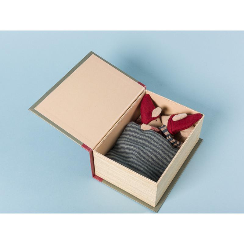 Maileg Weihnachten zwei Mäuse in Geschenkbox Geschenk Weihnachtsdeko Detail
