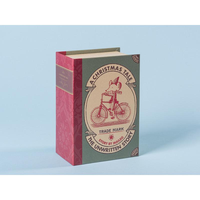 Maileg Weihnachten zwei Mäuse in Geschenkbox in Buch form 12 cm hoch