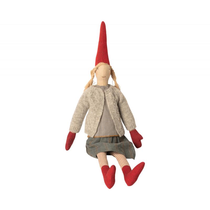 Maileg Wichtel Maxi Pixy Louise Weihnachtsdeko Kuscheltier Mädchen 62 cm