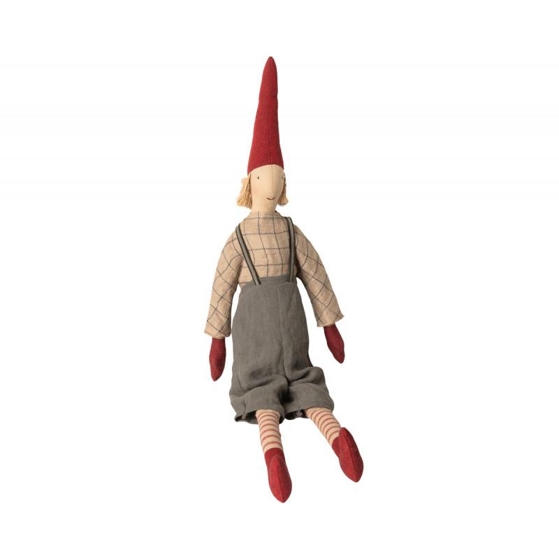 Maileg Wichtel Maxi Pixy Lukas Weihnachtsdeko Kuscheltier Junge 62 cm