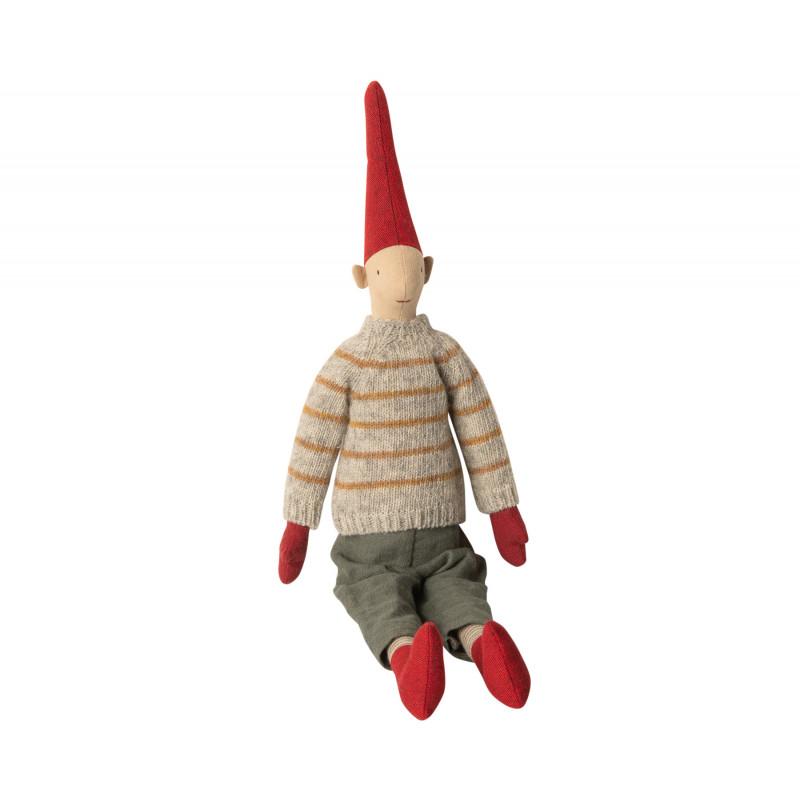Maileg Wichtel Medium Pixy Magnus Weihnachten Kuscheltier Junge 50 cm
