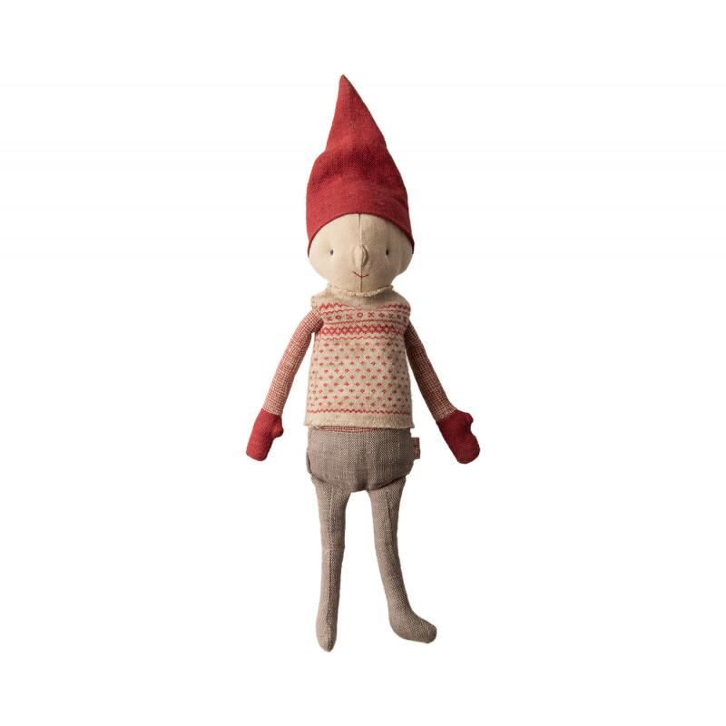 Maileg Winter Friends Pixy Boy stehend Weihnachten Deko Wichtel Junge Kuscheltier 32 cm