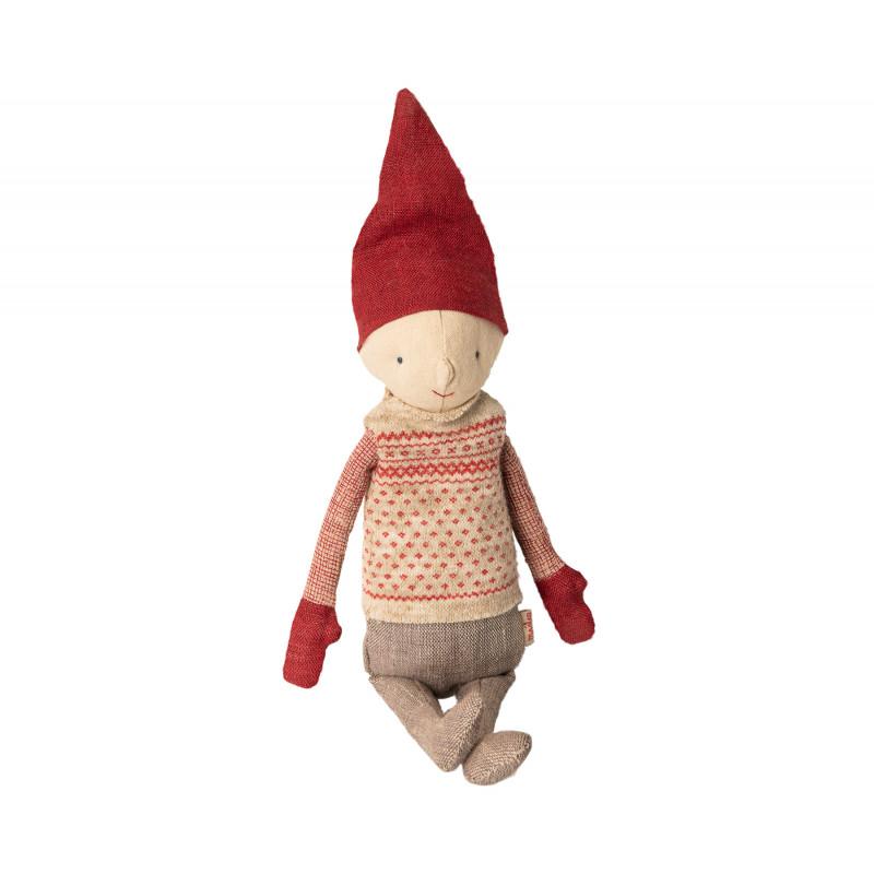 Maileg Winter Friends Pixy Boy Weihnachten Deko Wichtel Kuscheltier 32 cm