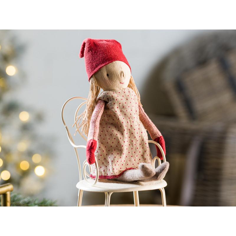 Maileg Winter Friends Pixy Girl sitzend Weihnachten Deko Wichtel Kuscheltier 32 cm Adventszeit Geschenkidee