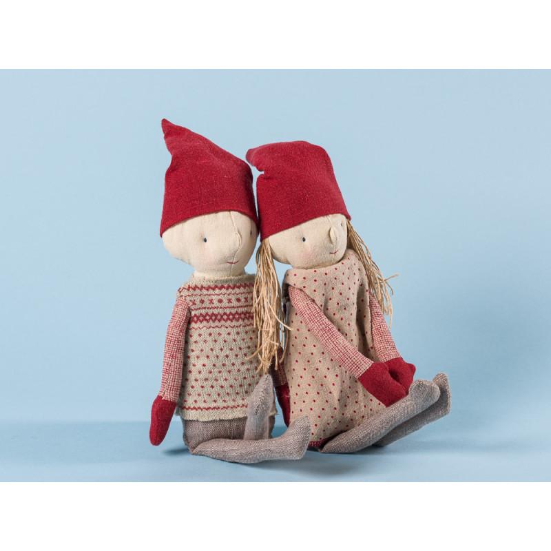Maileg Winter Friends Pixy Girl und Boy Weihnachten Deko Wichtel