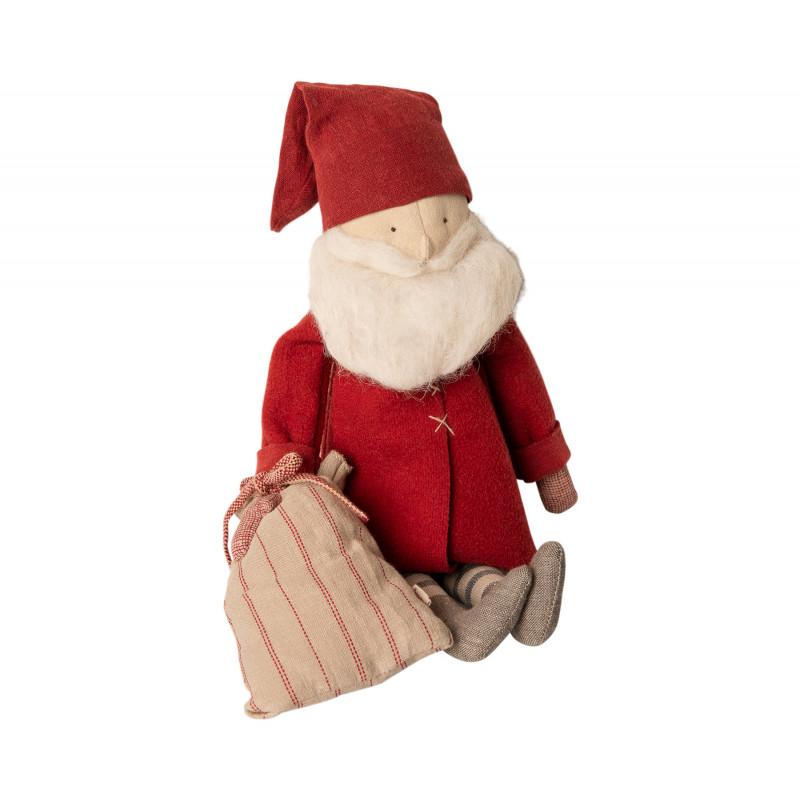 Maileg Winter Friends Pixy Santa sitzend mit Sack Weihnachten Deko Wichtel Weihnachtsmann Kuscheltier Weihnachtsdeko