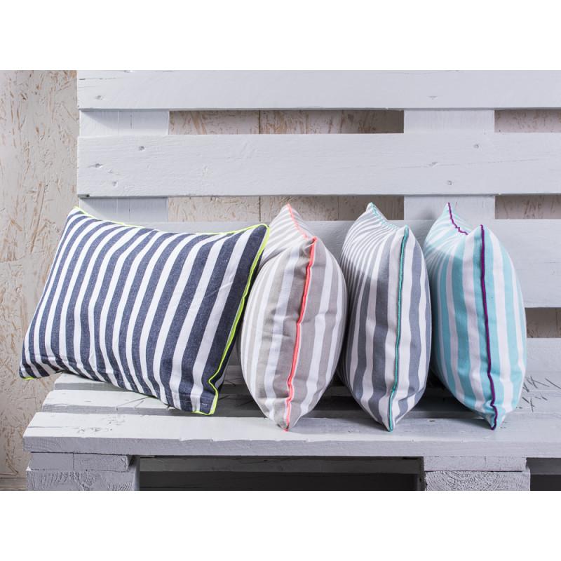 pad concept kissen chetto streifen grau wei. Black Bedroom Furniture Sets. Home Design Ideas