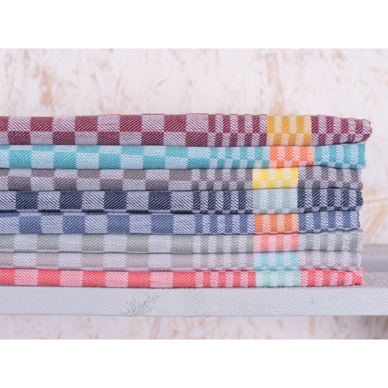 pad concept Geschirrtuch Pit Reloaded Karo mit Streifen Grubentuch aus Baumwolle Geschirrhandtuch verschiedene Farben