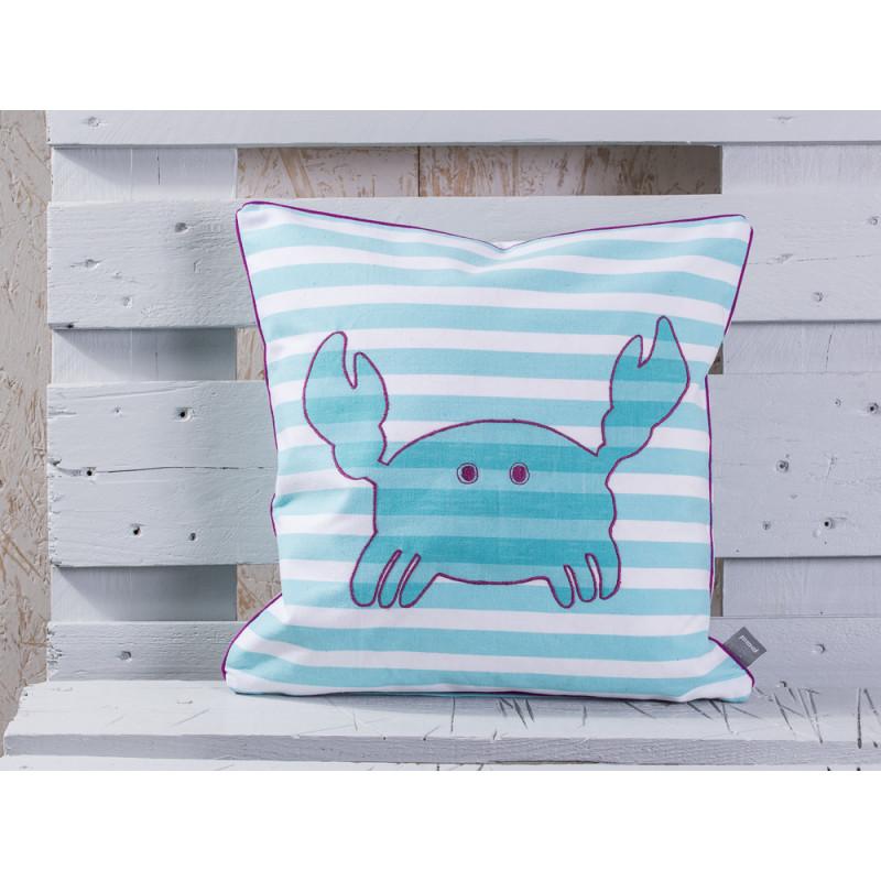 pad concept kissen mr crab aqua krebs kissenh lle in aqua t rkis wei gestreift mit. Black Bedroom Furniture Sets. Home Design Ideas