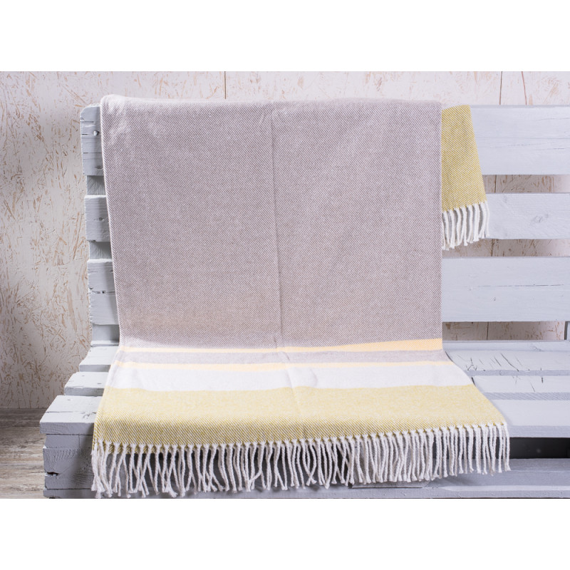 pad concept wolldecke country g n grau sch ne weiche wolldecke mit streifen hergestellt in. Black Bedroom Furniture Sets. Home Design Ideas